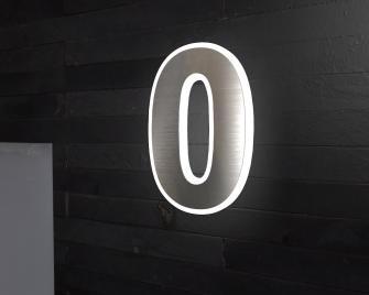 Hausnummer Beleuchtet edelstahlklingelplatte de hausnummer beleuchtet türklingeln