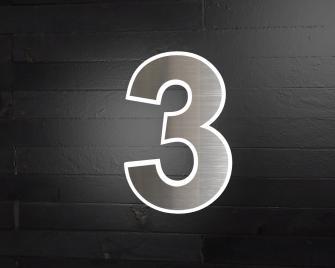 hausnummer beleuchtet t rklingeln hausnummern edelstahlklingeln. Black Bedroom Furniture Sets. Home Design Ideas