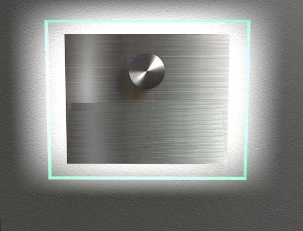 Edelstahlklingel mit Glasaufsatz