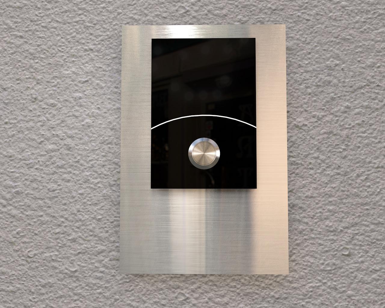 Aufputz Edelstahl-MP3-Funkklingel grschild