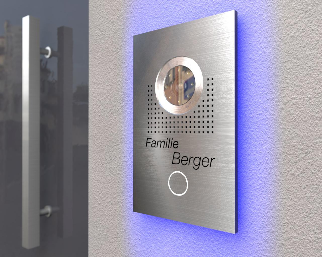 Video-Türsprechanlage mit Led-Hintergrundbeleuchtung