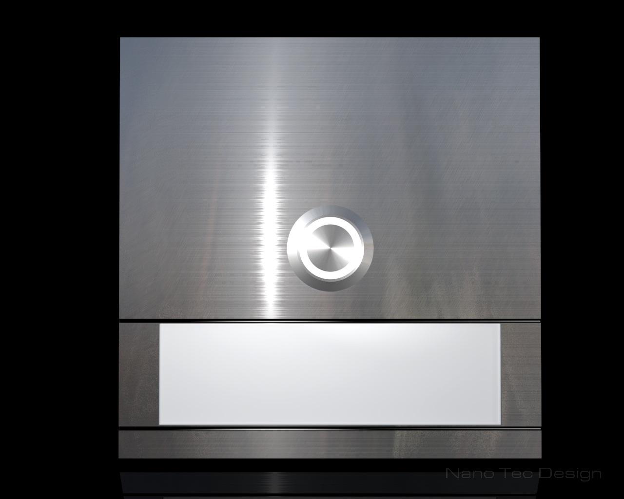 Design Edelstahlklingel mit Led-Beleuchtung